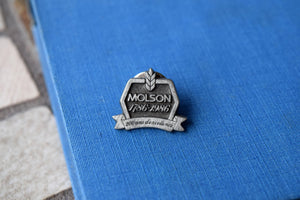 Molson Brewery Lapel Pin - 200 Year Anniversary Special Edition - Made of Pewter - Vintage - Alcohol Collectible - 1786-1986