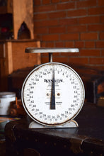 Load image into Gallery viewer, Large Industrial Metal Scale - Hanson Model 2060 Utility - Made in Chicago, USA - 60lb Capacity - 100% Functional - 1960s