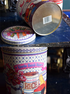 Uncle Bens Rice Tin - 1989 - Effem Foods Ltd. -  English and French - UNCLE BEN RICE - Bolton, Ontario, Canada - Vintage 1.5kg Capacity Tub - Lot 1