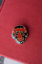 Load image into Gallery viewer, Tribal Warrior Face Lapel Pin - Weird Mask - Vintage Collectible - Made in USA - 1987