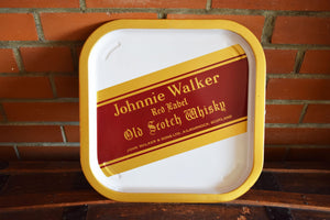 Johnnie Walker Tray - Red Label Old Scotch Whiskey - JOHNNIE WALKER SCOTCH - Diageo - John Walker & Sons Ltd. - Made in Scotland