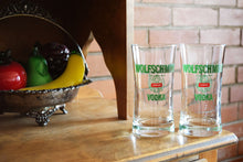Load image into Gallery viewer, Wolfschmidt Genuine Vodka Glasses - Set of 2 - WOLFSCHMIDT VODKA - Vintage Alcohol Advertising Collectible