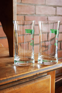 Wolfschmidt Genuine Vodka Glasses - Set of 2 - WOLFSCHMIDT VODKA - Vintage Alcohol Advertising Collectible
