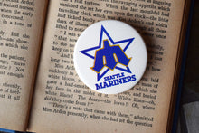 Load image into Gallery viewer, Seattle Mariners MLB Button Top Lapel Pin - Vintage Badge - Major League Baseball Memorabilia - Lot 1