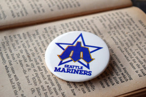 Seattle Mariners MLB Button Top Lapel Pin - Vintage Badge - Major League Baseball Memorabilia - Lot 1