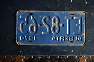 1970 Alberta License Plate - ET-82-65 - Vintage Automobile ID - Wall Hanging - Industrial Decor -  Canadian Provinces