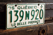 Load image into Gallery viewer, 1975 Quebec License Plate - 139N920 - Vintage Automobile ID - Wall Hanging - Industrial Decor -  Canadian Provinces