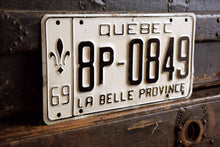 Load image into Gallery viewer, 1969 Quebec License Plate - 8P-0849 - Vintage Automobile ID - Wall Hanging - Industrial Decor -  Canadian Provinces