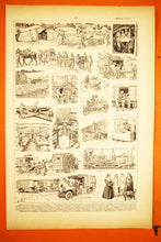 Load image into Gallery viewer, Ambulance Lithograph - 1920s Larousse - French Litho Sheet - Printed in Paris, France - 100% Original