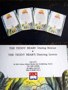 The Teddy Bears Cardboard Books - Set of 4 Hardcovers - Illustrated Books - Printed in Great Britain - 1992 - Baby Books - Mom Shower Gifts
