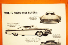 "Load image into Gallery viewer, Chrysler Corporation Car Advertisement - LIFE Magazine Ad - 14""x10"" Sheet - 100% Original - 1950s"