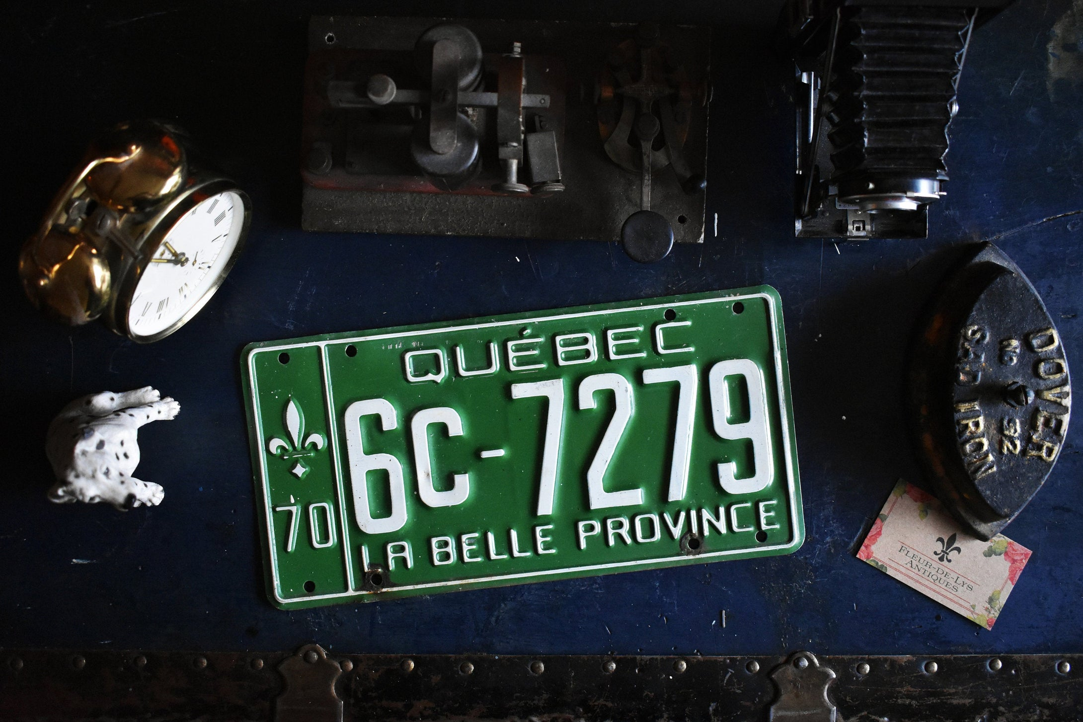 1970 Quebec License Plate - 6C-7279 - Vintage Automobile ID - Wall Hanging - Industrial Decor -  Canadian Provinces