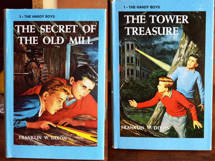 Hardy Boys Adventure Books - Set of 2 Hardcover Books - Original Paper Sleeve - Franklin W. Dixon - Printed in the USA - 1970s