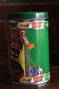 Reese Peanut Butter Cup Chocolate Tin - REESES CHOCOLATES - Buttercups - Christmas Edition - Candy Box - 1990 - Made in the USA