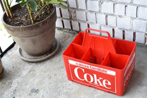 Coca-Cola Case - 1970s - Red Plastic - COKE CRATE - Advertising Collectible - Montreal, Quebec, Canada - Lot 3