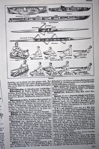 "Antique Athletics Prints - Lot of 7 - Der Neue Brockhaus Lithograph Collection - 5.75""x9.75"" - Printed in Germany - 1937-1938"