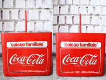 Load image into Gallery viewer, Coca-Cola Case - 1970s - Red Plastic - COKE CRATE - Advertising Collectible - Montreal, Quebec, Canada - Lot 6