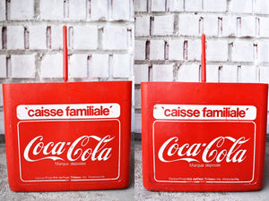 Coca-Cola Case - 1970s - Red Plastic - COKE CRATE - Advertising Collectible - Montreal, Quebec, Canada - Lot 6