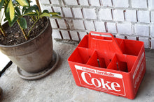 Load image into Gallery viewer, Coca-Cola Case - 1970s - Red Plastic - COKE CRATE - Advertising Collectible - Montreal, Quebec, Canada - Lot 4