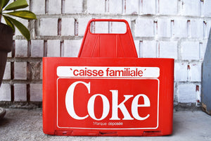 Coca-Cola Case - 1970s - Red Plastic - COKE CRATE - Advertising Collectible - Montreal, Quebec, Canada - Lot 2