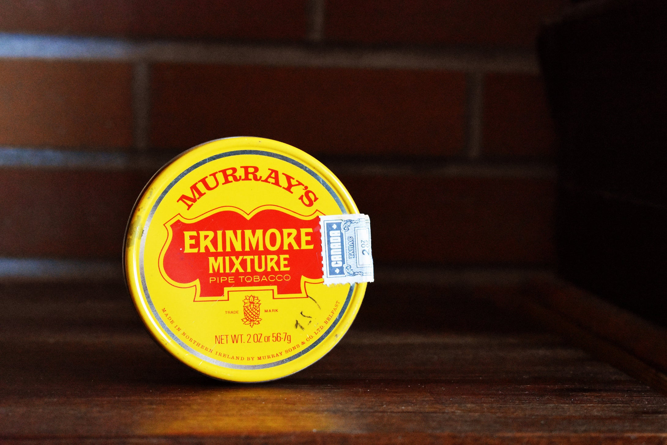 Murrays Erinmore Mixture Tobacco Tin - MURRAY'S ERINMORE MIX - Vintage Advertising Container - Net 2oz Weight - Belfast, Northern Ireland - Lot 2