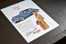 "Load image into Gallery viewer, Oldsmobile Automobiles Ad - Saturday Evening Post - 14""x10"" - Vintage 1950s Car Advertisements - LIFE Magazine - Prints to Frame - Lot 1"