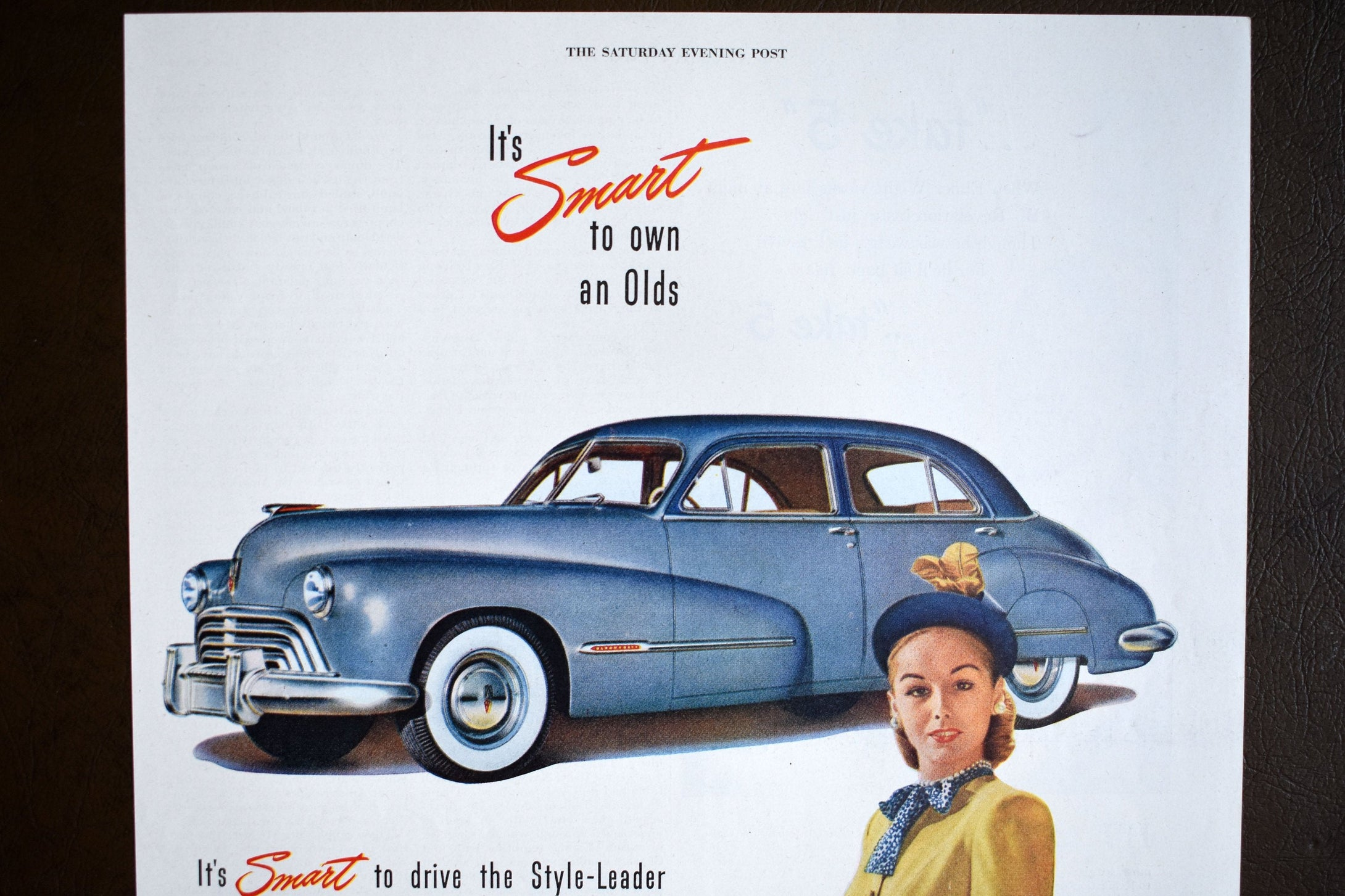 Oldsmobile Automobiles Ad - Saturday Evening Post - 14