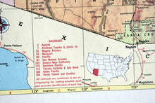 "Load image into Gallery viewer, 1940s Map of Arizona State - 14.25""x10.25"" - United States - Hammond's Ambassador World Atlas - Printed in the USA - Antique Maps to Frame"