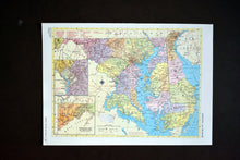 "Load image into Gallery viewer, 1940s Map of Maryland & Delaware State - 10.25""x14.25"" - Hammond's Ambassador World Atlas - Printed in the USA - Antique Maps to Frame"