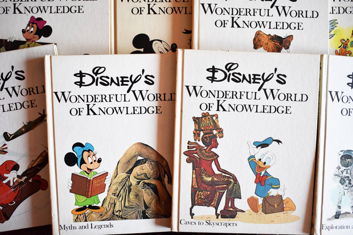 The Wonderful World of Walt Disney Books Collection - English Language - Set of 19 Vintage Hardcovers - Full Color Illustrations