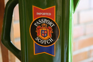 Passport Scotch Pitcher - Scotland - IMPORTED PASSPORT SCOTCH - Grassy Green Color - Vintage Alcohol Advertising Collectible