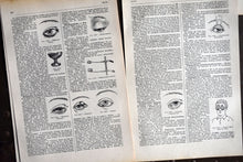 "Load image into Gallery viewer, The Human Eyes Prints - 10.25""x6.75"" - Set of 10 Antique French Lithographs - 1920s Larousse - Printed in Paris, France - 100% Original"