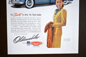 "Oldsmobile Automobiles Ad - Saturday Evening Post - 14""x10"" - Vintage 1950s Car Advertisements - LIFE Magazine - Prints to Frame - Lot 1"