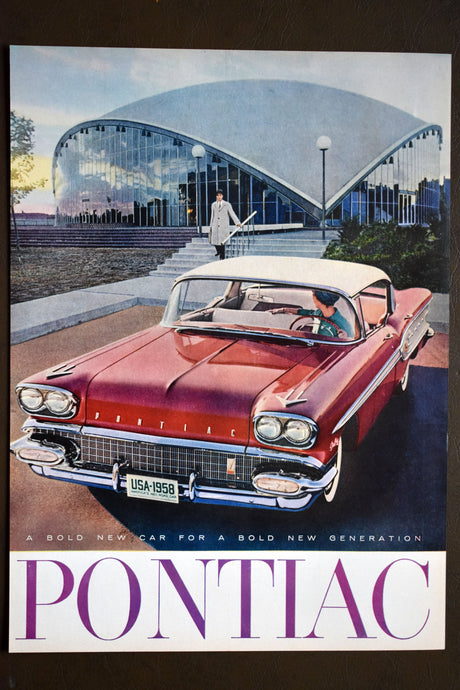 Vintage Pontiac Ad - Saturday Evening Post - 14