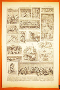 Antique High Relief Fine Art Print - 1920s Larousse - French Lithographs - Printed in Paris, France - 100% Original - Antiques and Artpieces