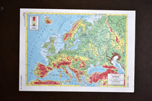 "Load image into Gallery viewer, 1940s Map of Europe  - 10.25""x14.25"" - Physical Relief - Hammond's Ambassador World Atlas - Printed in USA - Antique Maps to Frame"