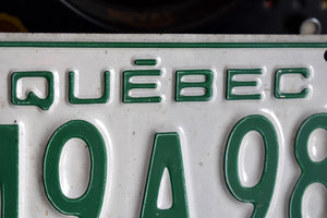 1975 Quebec License Plate - 249A980 - Vintage Automobile ID - Wall Hanging - Industrial Decor -  Canadian Provinces