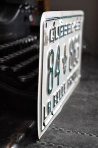 1963 Quebec License Plate - 84-863- Vintage Automobile ID - Wall Hanging - Industrial Decor -  Canadian Provinces