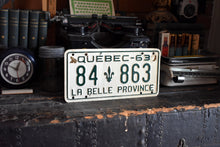 Load image into Gallery viewer, 1963 Quebec License Plate - 84-863- Vintage Automobile ID - Wall Hanging - Industrial Decor -  Canadian Provinces