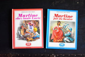 Vintage Martine Books - Set of 2 - French Language - Hardcovers - Casterman Publishing - Printed in France - 1980s French Book
