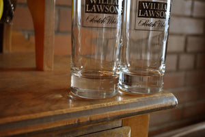 William Lawsons Scotch Whisky Glasses - Set of 2 - Vintage Alcohol Collectibles - WILLIAM LAWSON'S - Drinking Glasses - Lot 2