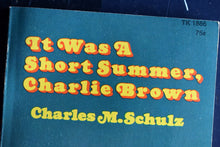 Load image into Gallery viewer, It Was A Short Summer Charlie Brown IN COLOR Comic Book - Charles M. Schulz - 1971 - 1st Printing - Printed in USA