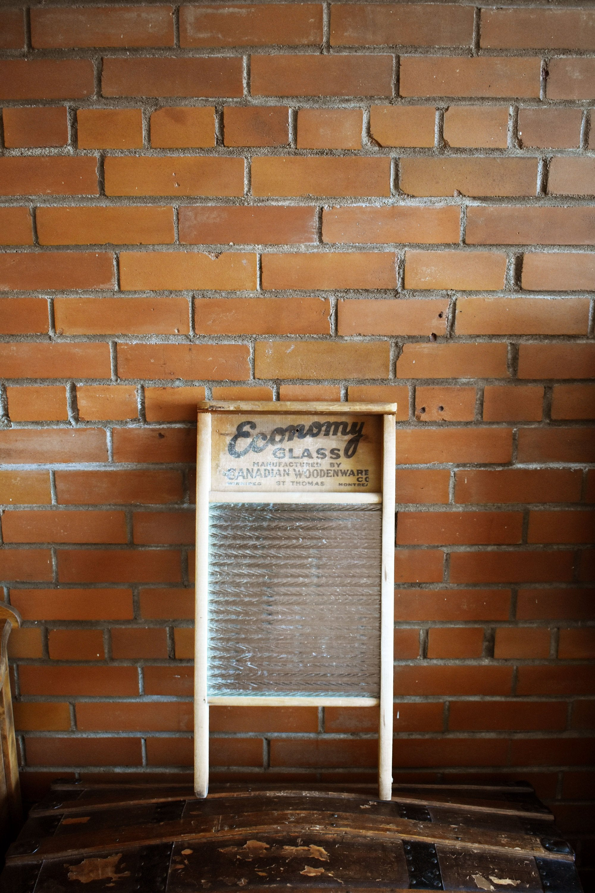 Economy Washboard - Wooden with Glass Grate - Manufactured in Canada - Canadian Woodenware Company