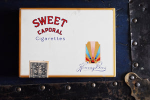 Sweet Caporal Cigarette Tins - Set of 2 Tins - Canadian Imperial Tobacco - Kinney Bros Trademark - Vintage Advertising - 1960s