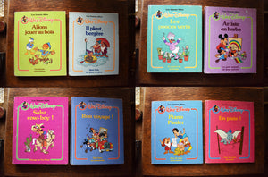 Walt Disney Les Bonne Idées Books - Set of 8 French Hardcover Children's Books - Le Livre Loisirs Ltd. - Printed in the USA - 1980s