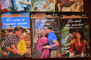 Harlequin Tentations Erotic Romance Novels - Set of 11 Softcovers - French Language - Printed in France - 1960s-1980s