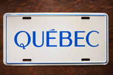 Load image into Gallery viewer, Québec Decorative License Plate - Vintage Automobile  - Wall Hanging - Souvenir License Plate -  Canadian Province