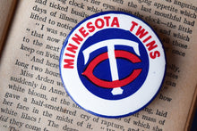 Load image into Gallery viewer, Minnesota Twins MLB Button Top Lapel Pin - Vintage Badge - Major League Baseball Memorabilia