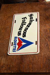 Montreal Alouettes Decorative License Plate - Vintage Automobile  - Wall Hanging - Souvenir License Plate -  CFL Memorabilia