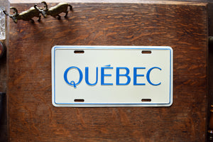 Quebec License Plate - Vintage Automobile  - Wall Hanging - Souvenir License Plate -  Canadian Province